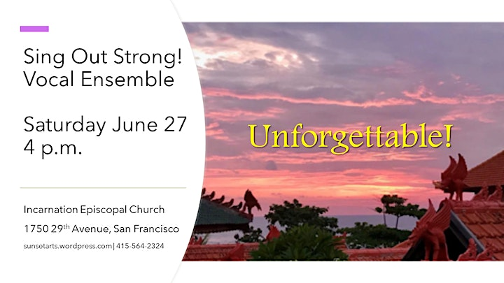 Unforgettable! Sing Out Strong Vocal Ensemble image