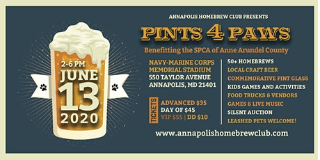 Cancelled: 6th Annual Pints 4 Paws Homebrewing and Craft Beer Festival tickets