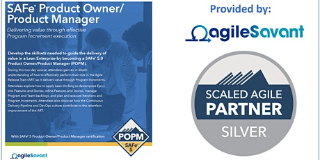 SAFe 5.0 Product Owner / Product Manager w/ POPM Certification tickets