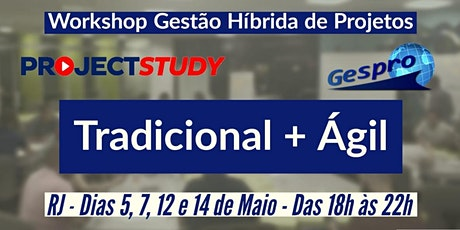 Workshop Gestão Híbrida de Projetos ingressos