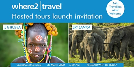 Travel event Ethiopia and Sri Lanka Hosted Tours tickets