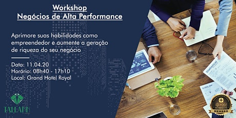 Workshop - Negócios de Alta Performance ingressos