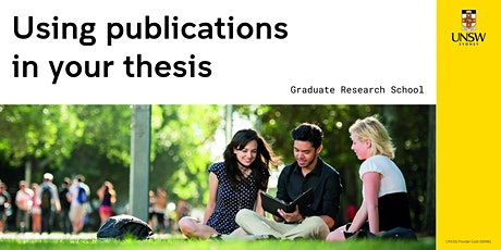 Using publications in your thesis tickets