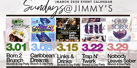 Sunday 2hr Open Bar Brunch & Day Party, Bdays Free, Live Music tickets
