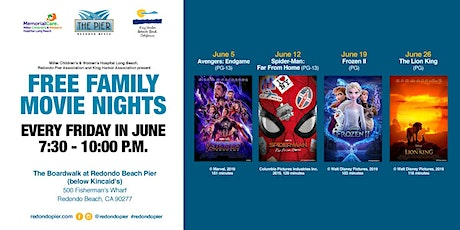 Free Family Movie Nights Every Friday in June at Redondo Beach Pier tickets