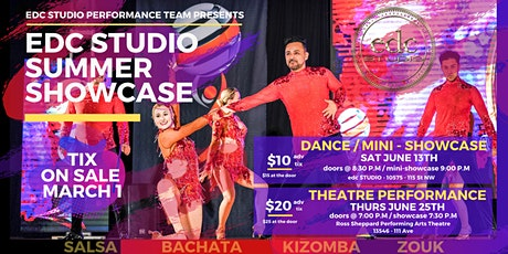 edc STUDIO Summer Showcase (Performances, Dance Social) tickets