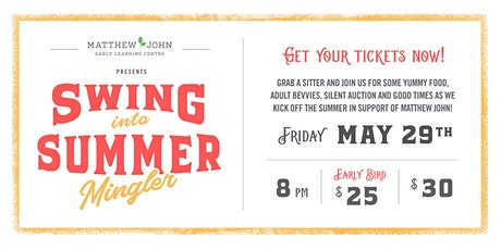 Matthew John's Swing Into Summer Mingler tickets