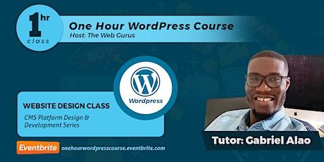 WordPress 1 Hour Training tickets