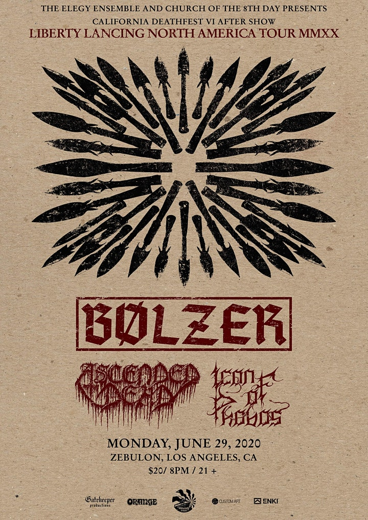 CANCELED - California Deathfest VI After Show with Bolzer & More image