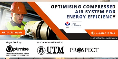 A Two-Day Course on Optimizing Compressed Air System for Energy Efficiency tickets