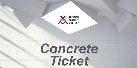Irish Concrete Society's Concrete Ticket Course Dublin 29th of April 2020 tickets