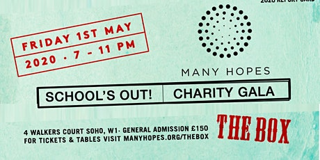 School's out 2020! A Benefit for Many Hopes tickets