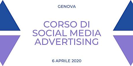 Corso di Social Media Advertising: pubblicità in rete performante biglietti