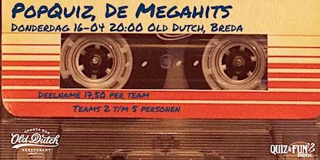 PopQuiz, De Megahits | Breda (nieuwe datum 25juli) tickets
