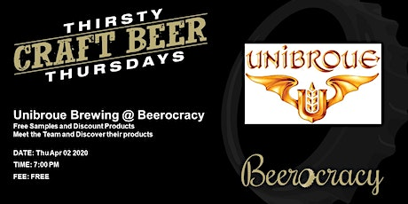 Thirsty Thursday with Unibroue tickets