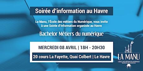 Soirée d'information   Bachelor Métiers du Numérique au Havre billets