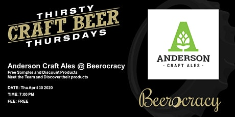 Thirsty Thursday with Anderson Craft Ales tickets