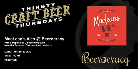 Thirsty Thursday with MacLean's Ales tickets