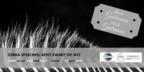 *AFGELAST WEGENS COVID-19* Zebra Speeches: Gent Zwart op Wit tickets