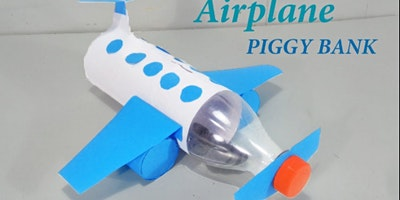 Airplane Piggy Bank @ Hale End Library