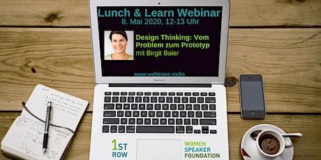 """Webinar """"Design Thinking"""" mit Birgit Baier - Teil 2 Tickets"""