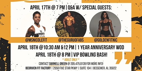 BeDriven Fit Factory 1 year Anniversary Celebration tickets