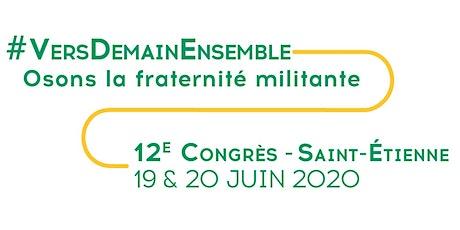 12e Congrès des PFP - VERS DEMAIN ENSEMBLE - Osons la fraternité militante billets