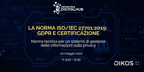 La norma ISO/IEC 27701:2019 | Bologna | 20 maggio 2020 biglietti