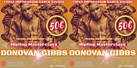 HipHop Masterclass Donovan Gibbs in Luxembourg tickets
