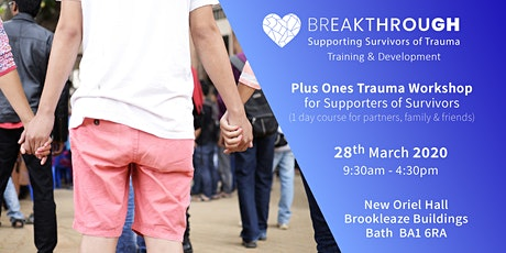 Breakthrough Training - Plus Ones Trauma Workshop for Supporters tickets