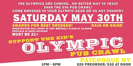 Support the Kid Olympic Pub Crawl NY tickets