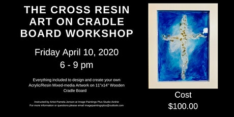 The Cross Multi-media Resin Art on Wooden Cradle Board tickets