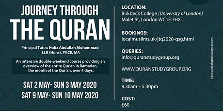 JOURNEY THROUGH THE QURAN 2020 (QSG) tickets