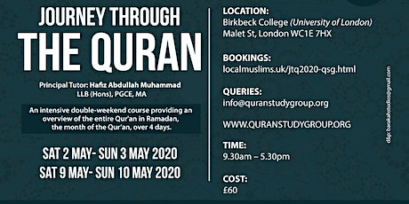RAMADAN QURAN COURSE 2020 (QSG) tickets