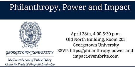 Philanthropy, Power and Impact tickets