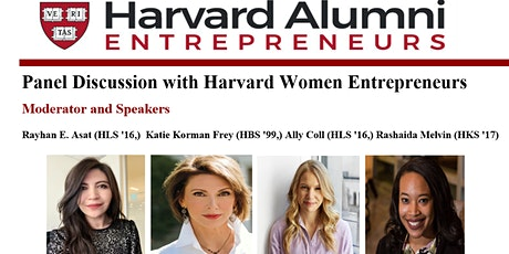 Panel Discussion with Harvard Women Entrepreneurs tickets