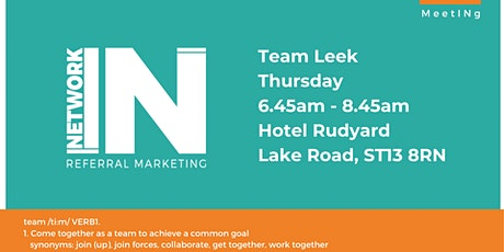 NetworkIN Team Leek Breakfast Fortnightly Meeting tickets