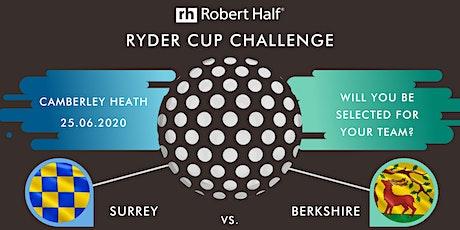 Robert Half's Ryder Cup Challenge - Surrey vs Berkshire tickets