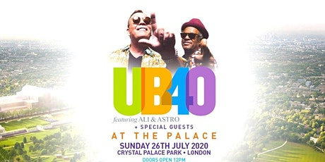 At The Palace with UB40 at Crystal Palace Park tickets