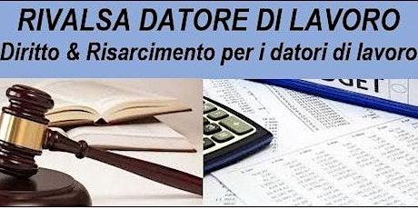 Workshop RIVALSA DATORE DI LAVORO biglietti
