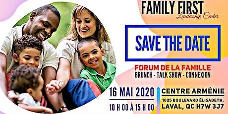 Forum de la Famille 2020 billets