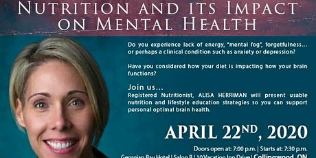 Nutrition and it's Impact on Mental Health tickets