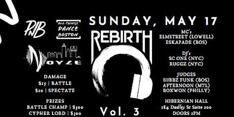 Rebirth Vol.3 tickets