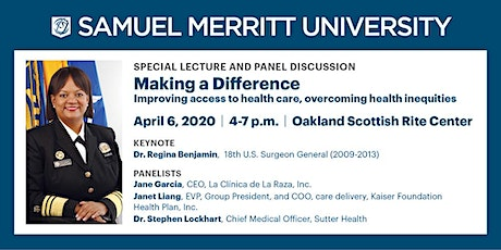 Making a Difference with Former U.S. Surgeon General Dr. Regina Benjamin tickets