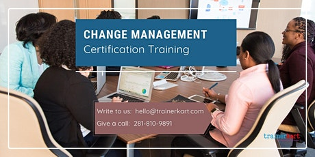Change Management Training Certification Training in Val-d'Or, PE billets