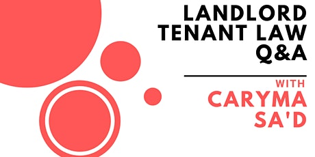 Breakfast and Landlord/Tenant Law tickets