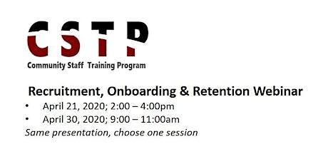 Recruiting Onboarding & Retention - Webinar tickets