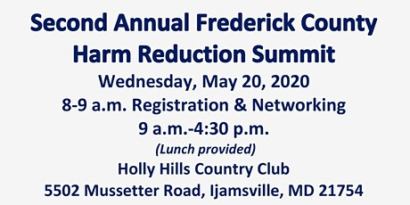Second Annual Frederick County Harm Reduction Summit tickets