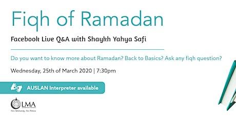 Fiqh of Ramadan tickets