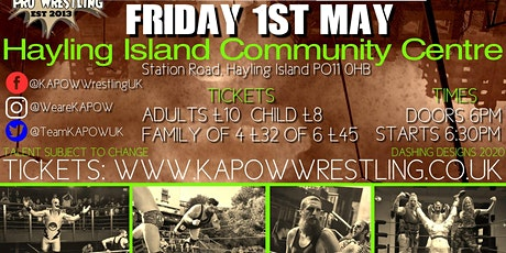 Kapow Wrestling- Island Warfare tickets